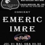 Seara folk cu Emeric Imre