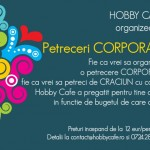 Petreceri corporate la Hobby Cafe