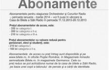 Abonamente Sala Radio 2014