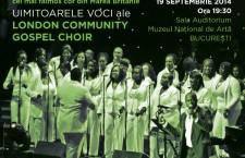 Concert Caritabil pentru Fundatia HOSPICE Casa Sperantei – London Community Gospel Choir concerteaza la Muzeul National de Arta