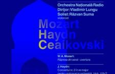 MOZART, HAYDN şi CEAIKOVSKI, cu dirijorul VLADIMIR LUNGU şi violoncelistul Răzvan Suma