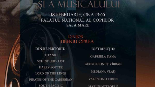 """Concert de muzică de film și musical, la Teatrul Național de Operetă și Musical """"Ion Dacian"""""""