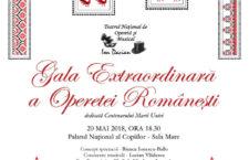 """""""Gala Extraordinară a Operetei Românești"""" 20 mai, 18:30, Palatul Național al Copiilor – sala mare"""